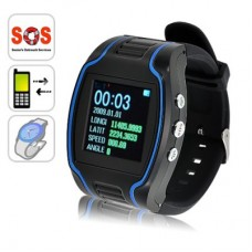 GPS Cell Phone Watch with SOS Calls - Quad Band, Two Way Calling,free shipping